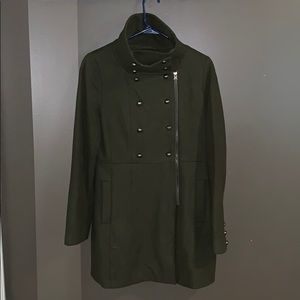 Awesome military green coat by attention small